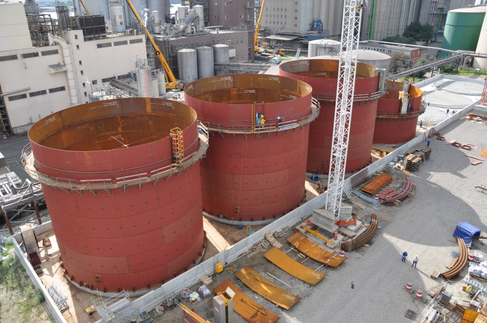 Fixed roof tanks with and without steel cup – JPM Ingenieure